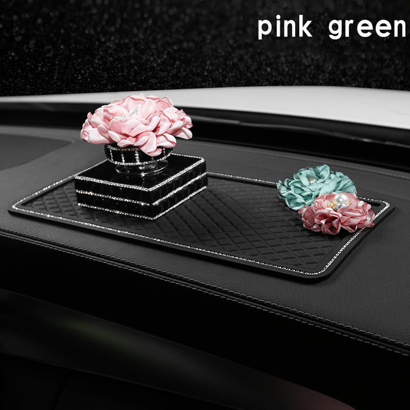 Désodorisant de voiture Clips de parfum fleur parfum parfum cristal diamant sortie d'air Vent frais femmes