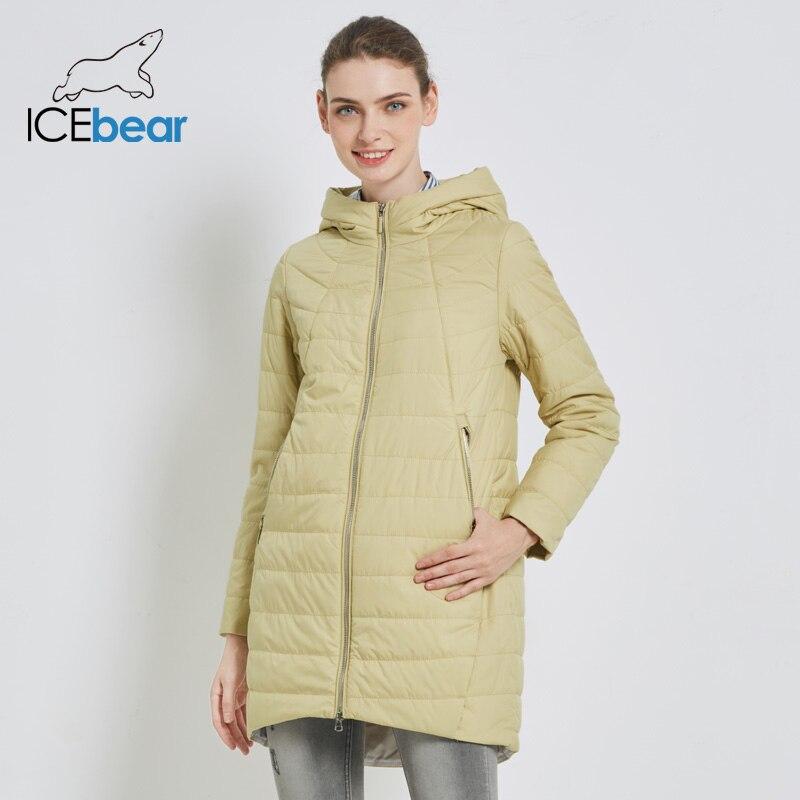 ICEbear 2019 delle Nuove donne di Autunno Cappotto di Modo Giacca Donna delle Donne di Alta Qualità di Abbigliamento di Marca Con Cappuccio Abbigliamento Femminile GWC18005I-in Parka da Abbigliamento da donna su  Gruppo 3