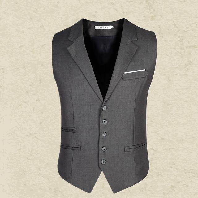 NEW arrival Men's clothing business Blazers Sleeveless Waistcoats Slim fit male Vests Formal Suits Vest Plus size M-3XL MQ217