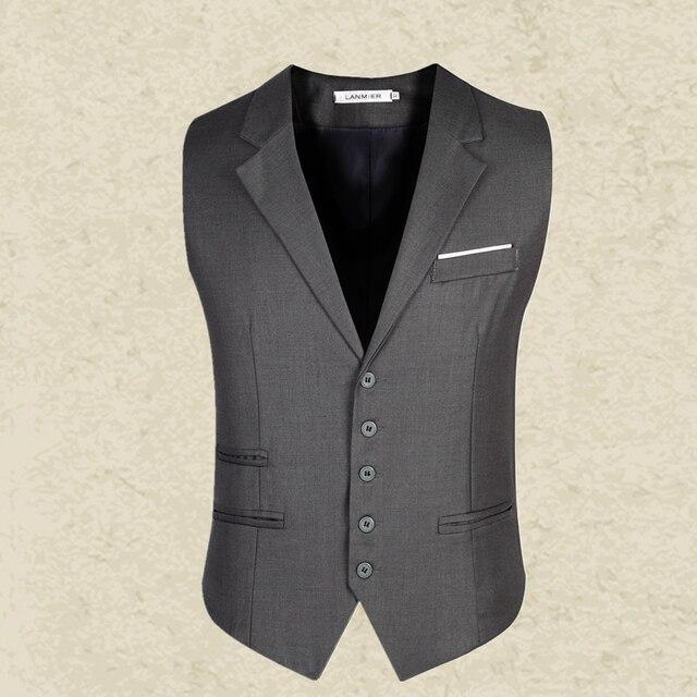 Nuevos hombres de la llegada de negocio de ropa Blazers sin mangas chalecos Slim fit hombre chalecos trajes formales más el tamaño M-3XL MQ217