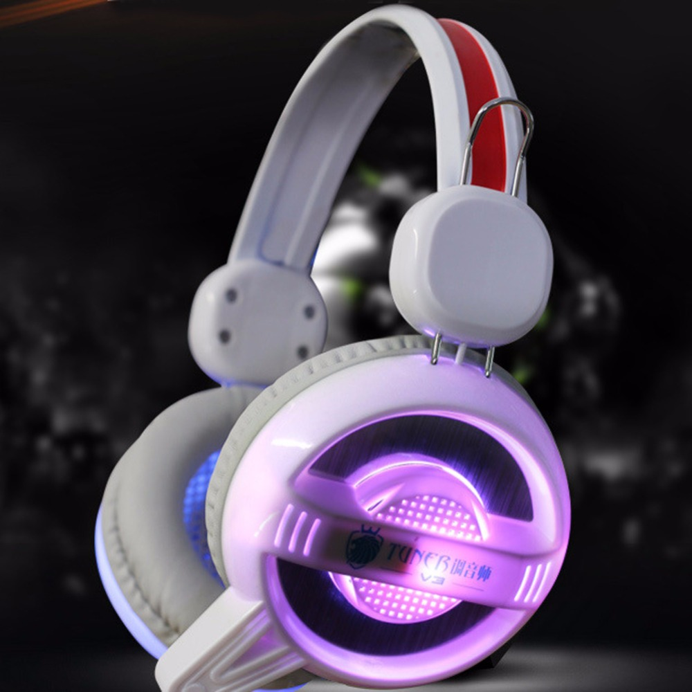 USB Gamer Gaming Headphones Luminous Colorful LED With Microphone for Computer Folding Headsets Glowing Headphones High Quality