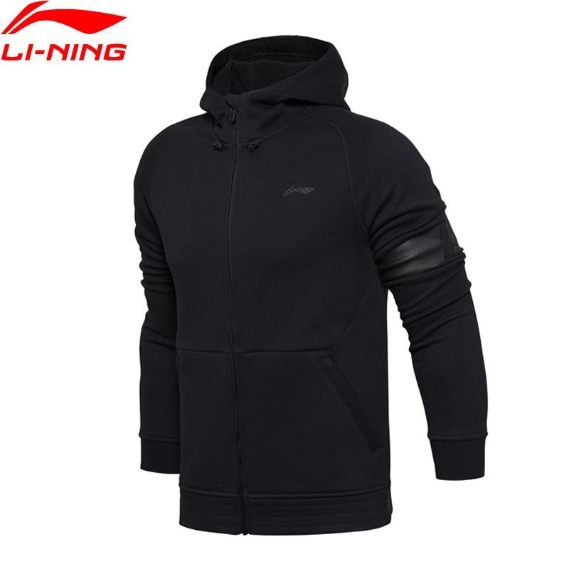 Li-Ning Men Coats Basketball Series Hoodie Sweater Jerseys Slim Fit Warm Comfort Li Ning Sports Hooded Coat AWDM635 li ning men s professional basketball shoes speed