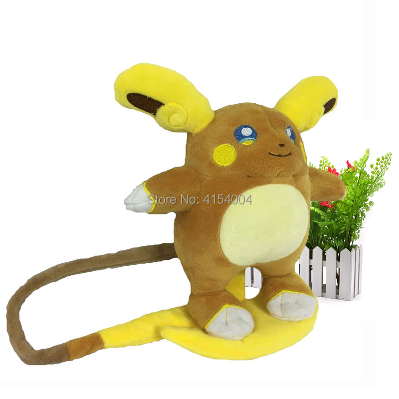 10 pcs/lot Animal Plush Peluche Doll Pikachu Alola Region Raichu Soft Stuffed Hot Toy Great Christmas Gift For Children 18 cm