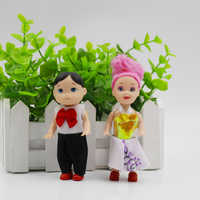 2 teile/satz 10 cm Kleine Kelly Puppe Prinz und Prinzessin Mini Nette Baby Kelly jungen und Mädchen Puppen Körper Spielzeug Für Mädchen Kinder geschenke