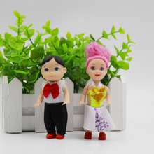 2pcs/set 10cm Little Kelly Doll Prince&Princess Mini Cute Baby Kelly Boy and Girl Dolls Body Toys For Girls For Children Gifts scott woods prince and little weird black boy gods