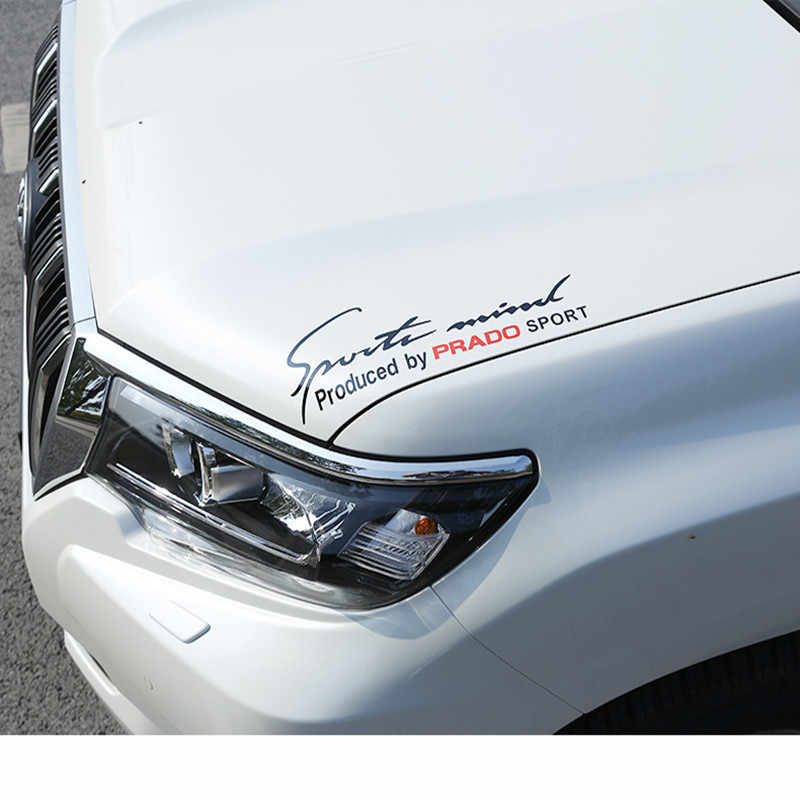 도요타 RAV4 용 헤드 라이트 후드에 자동차 스티커 PRADO YARIS PREVIA COROLLA PRIUS 캄리 크라운 툰드라 자동 스타일링 데칼 스포츠