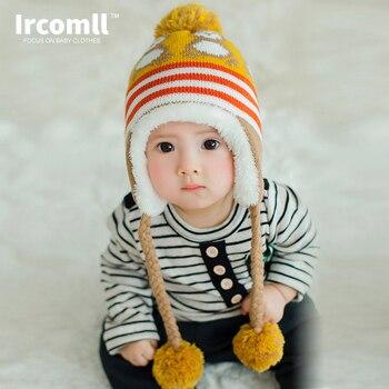 2016 winter koreaanse winter baby hoed leuke pinguïn pasgeboren hoed baby kleurrijke baby boy winter hoed baby hedging cap