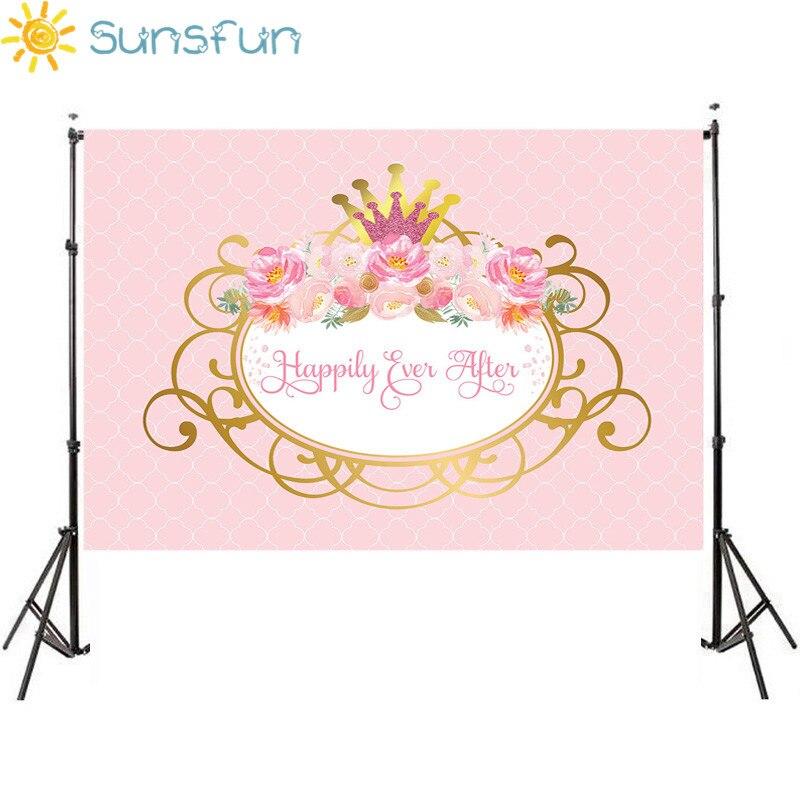 Sunsfun Rosa Piccola Principessa Fotografia Fondali Di Compleanno Festa A Tema Foto Sparare Sfondi Di Studio