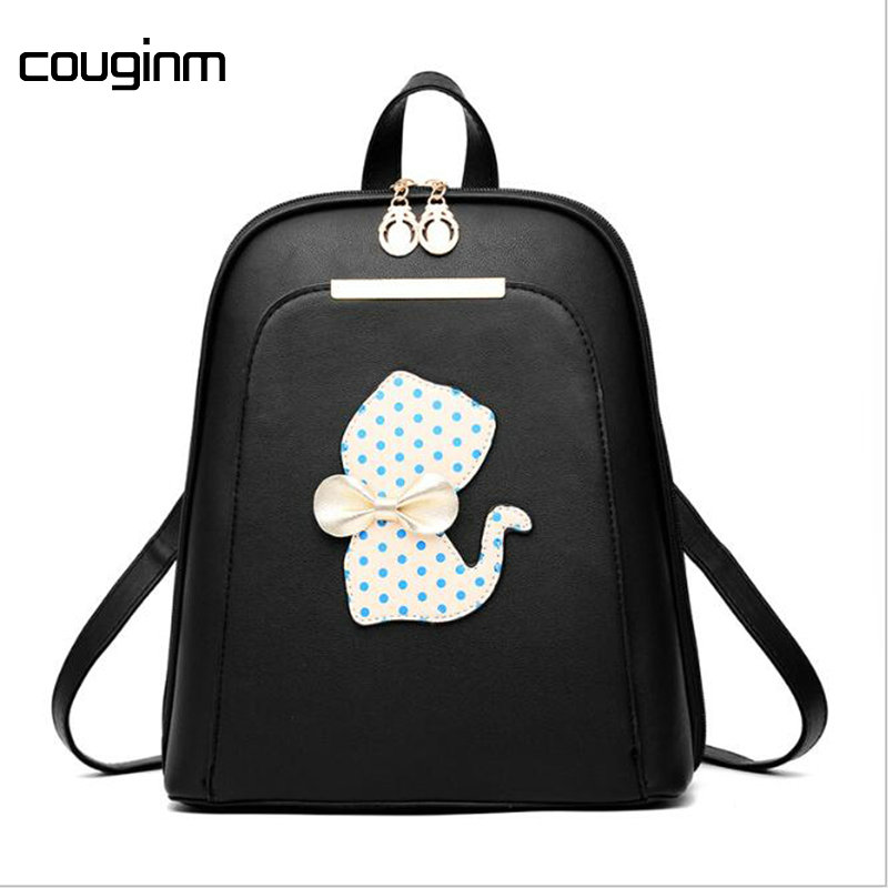 fdaa2a8b993a COUGINM Famous Brand Women Backpack Luxury Designer Lady s Small Vintage  Backpacks For Girls High Quality PU