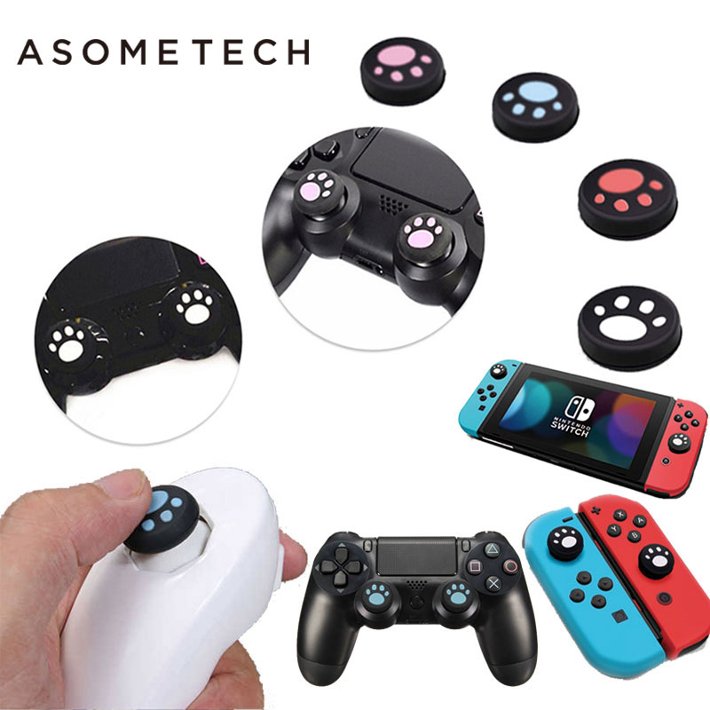 US $0 87 35% OFF|2PC Silicone Thumbstick Grip Cap Buttons Case For Nintendo  Switch SONY PS4 Ps3 iPega xbox one 1 wii controller Joystick Controle-in
