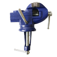 65mm Blue bench vice small mini universal table vise woodworking tools