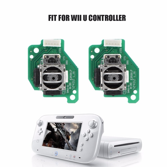 Left & Right Analog 3D Joystick Sticks Replacement for Nintendo for Wii U GamePad Controller