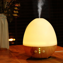 Фотография Creative Egg-shaped Aromatherapy Humidifier 235ML Household Wood Grain Aroma Essential Oil Diffuser USB Warm Light Diffuser