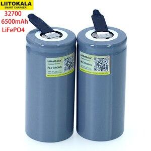 Image 1 - LiitoKala 3.2V 32700 6500mAh batteria LiFePO4 35A scarica continua massimo 55A batteria ad alta potenza fogli di nichel fai da te