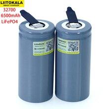 Liitokala 3.2v 32700 6500mah lifepo4 bateria 35a descarga contínua máxima 55a bateria de alta potência + folhas de níquel diy