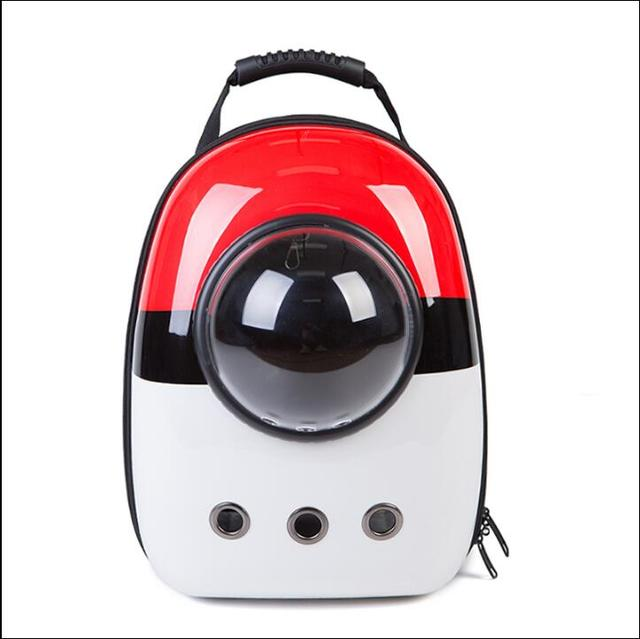 Pokemon Space Capsule  Pet Cat Backpack Bubble Window for Kitty Puppy Chihuahua Small Dog Carrier Crate Outdoor Travel Bag