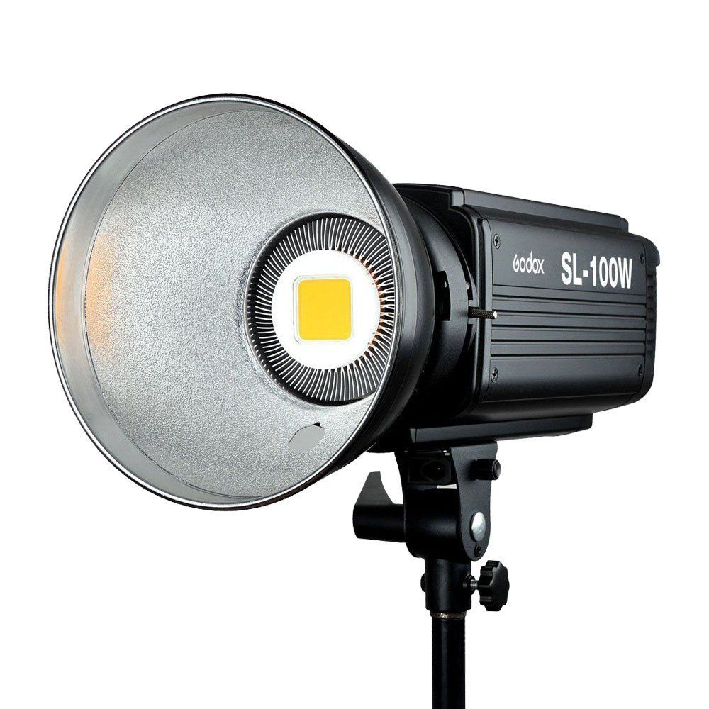 Godox SL-100W LED Video Light 100W LED Bulbs Lamp 6500LUX Studio Continuous Bowens Mount Led Light Photography Lighting220V 110V professional godox ql1000 1000w photo photography studio video continuous light lighting