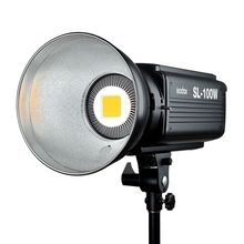 Godox SL-100W Led-videoleuchte 100 Watt Led-lampen Lampe 6500LUX Studio Kontinuierliche Bowens Berg Led-Licht Fotografie Lighting220V 110 V