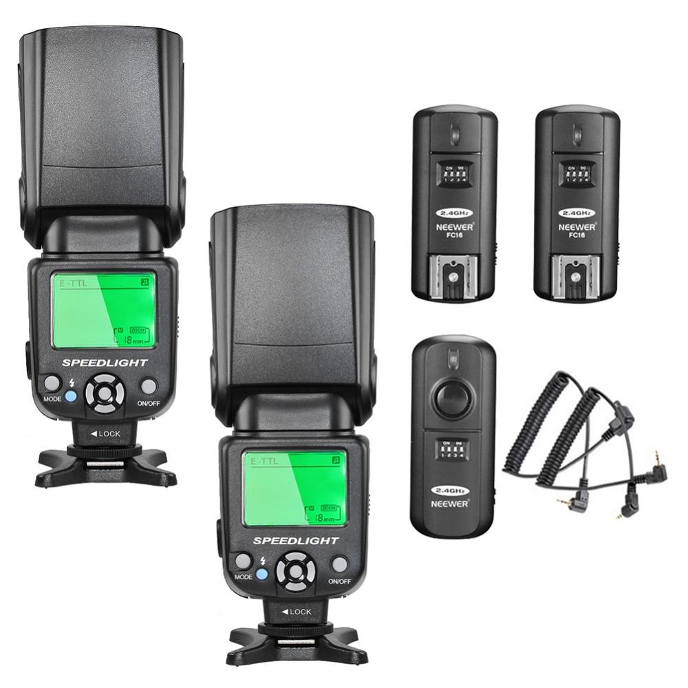 купить Neewer NW-562C E-TTL Flash Speedlite Kit for Canon DSLR Camera по цене 6474.2 рублей