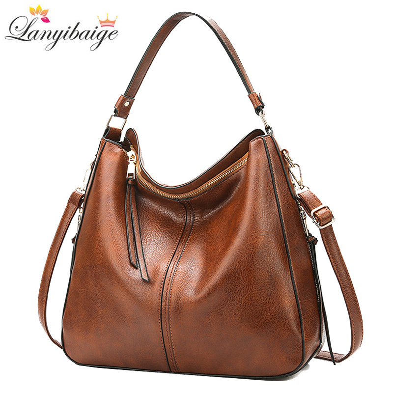 New Women Handbags High Quality Leather Female Crossbody Shoulder Bags Casual Large Capacity Messenger Bag For Ladies Big TotesShoulder Bags   -