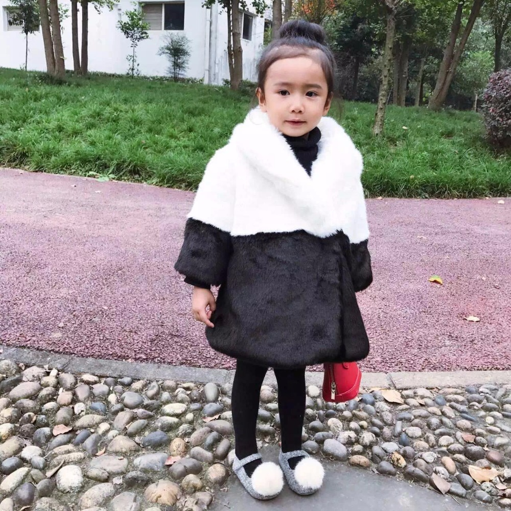 Girl's boy Winter Imitation Fur Coat 2018 Girls Thick Fluff Warm Coat Children Baby Clothes Kid Thick  Coat Wholesale children duck down jacket coat with imitation fur boy girl removable hooded overcoat winter warm thick outerwear kid clothes