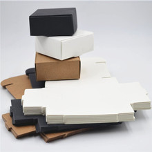 Small gift paper boxes kraft packaging boxes black paper cardboard boxes for packaging