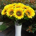 Fashion Lifelike Artificial Plastic Sunflower Heads Home Party Decorations Props