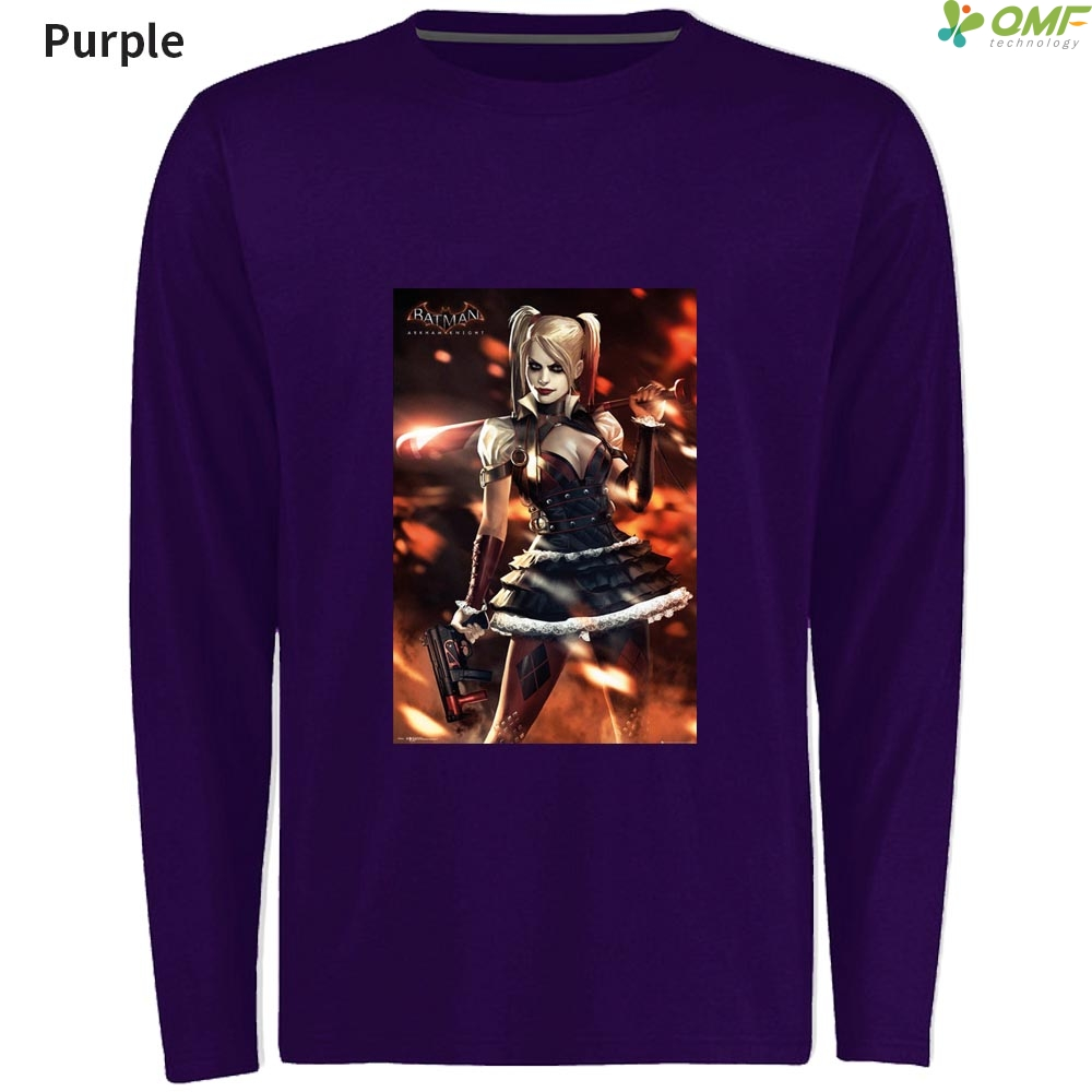 Batman Harley Quinn Men T Shirts Fashion Clothes Long