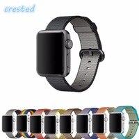 Woven Nylon Strap Watchband For Apple Watch Band 38mm 42mm Bracelet Sports Wrist Men Women Watch
