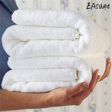 Bathrobe 300g toalha Towels Best 1Pcs Luxury Hotel Spa Bath Towel 100% Cotton White Solid Bath Towels Bar Cleaning Cloths(China)