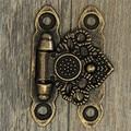 Alta calidad 12X antiguo antiguos y de época decorar estilo de bronce decorativo regalo de la joyería caja de madera cerrojo de gancho pestillo con tornillos