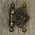 High Quality 12X Antique antique and vintage style Decorate Brass Decorative Jewelry Gift Wooden Box Hasp Latch Hook With Screws