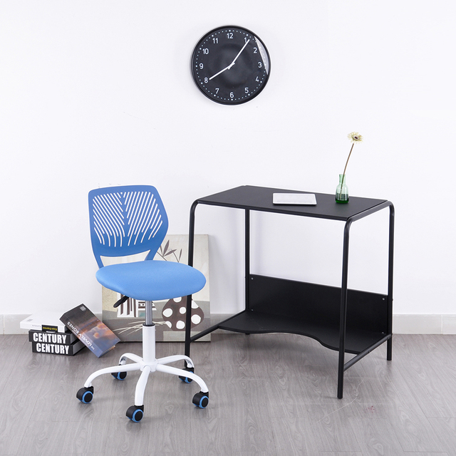 office chair without arms japanese chairs for sale aingoo task desk adjustable mid back home children study 360 degree rotating wheel
