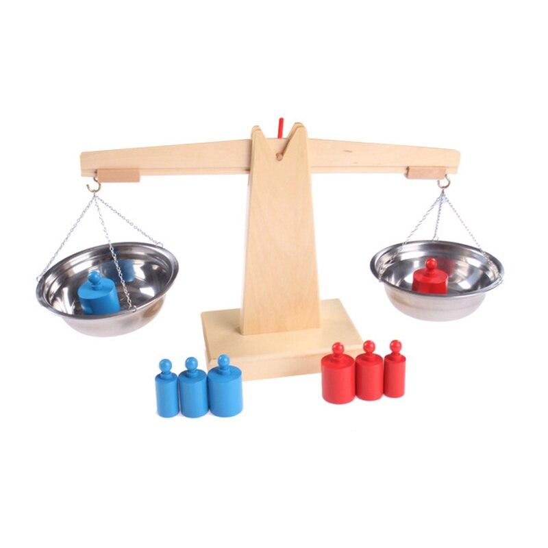 Bébé jouet Montessori Balance en bois Balance Balance sensorielle petite enfance éducation préscolaire formation grand cadeau