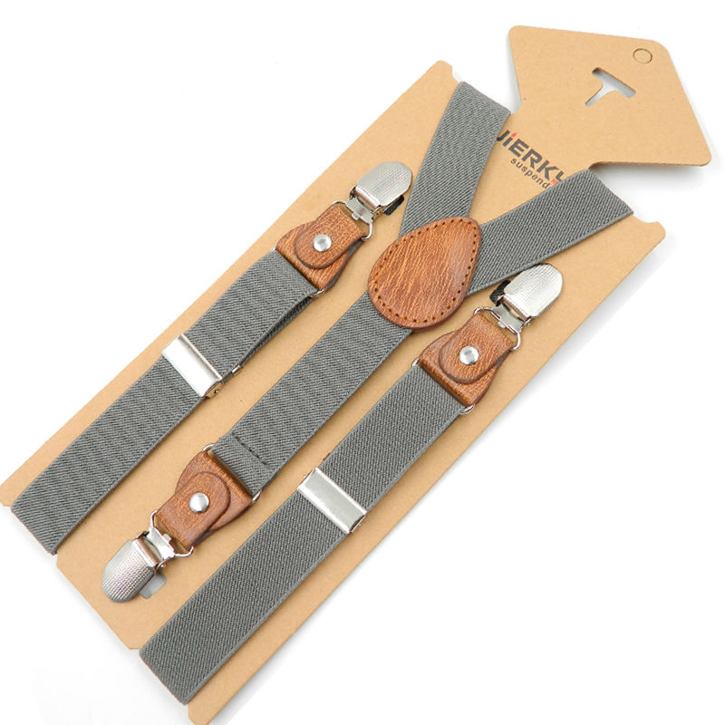 2019 New Kids Suspenders Leather Baby Braces Strong 3Clips Trousers Fashion Suspensorio Elastic Strap Size 2.5*65cm