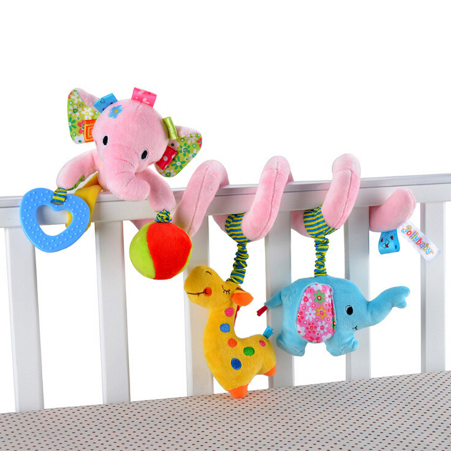 Jollybaby baby stroller multifunctional bed hanging toy newborn music bed animal bed toy  bed bell WJ132-WJ134