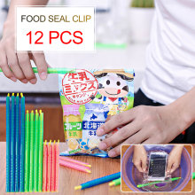 12pcs Plastic Stick Zip Organizer Seal Stick Storage Chip Bag Fresh Food Snack Clip Grip Coffee Bag Sealing Clips Sealer Clamp(China)