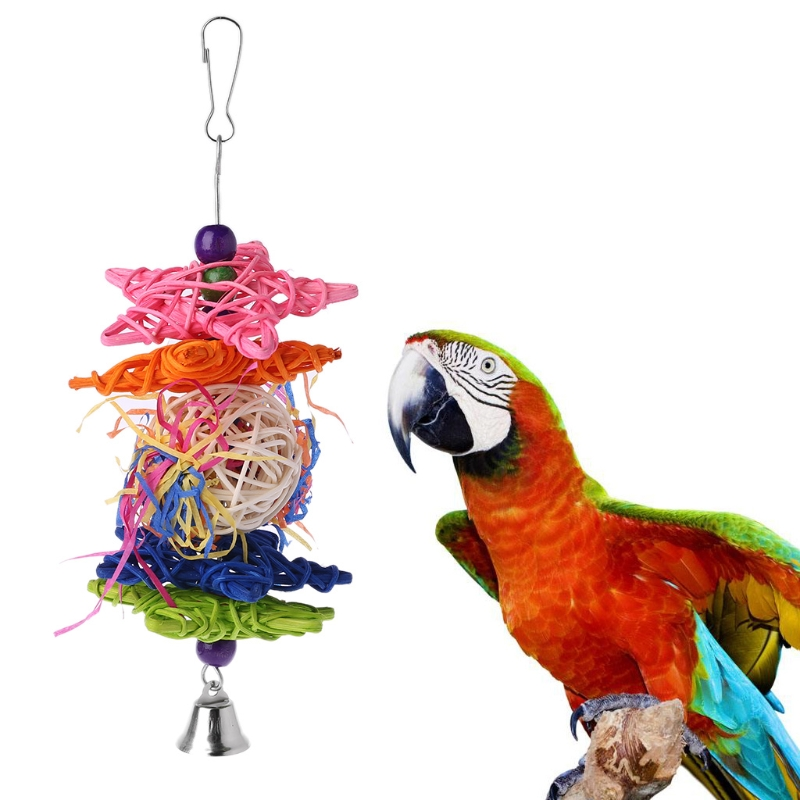 Bird Parrot Chewing Toys Bird Swing Bite String Toy
