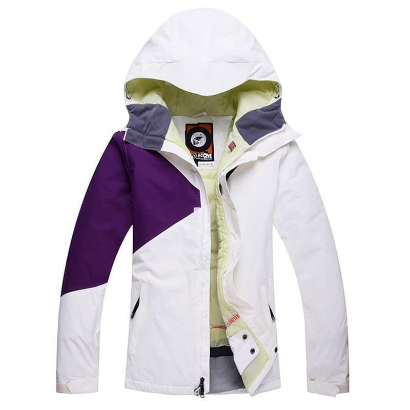 Prix pour Nouvelle Marque Ski Veste Femmes Hiver Au Chaud Imperméable Ski Snowboard Vestes Lady Sports de Plein Air Costume D'hiver Veste HX18