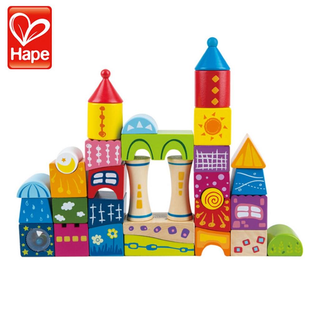 HAPE Children Boys & Girls Fairytale Castle Building Blocks Wood Educational Brain Enlightenment Toys Parent-child Game