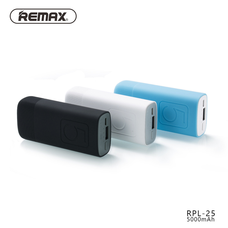 Remax RPL 25 5000mAh For Xiaomi Mini Portable Charger External Battery Pack Power Bank Fast Charging