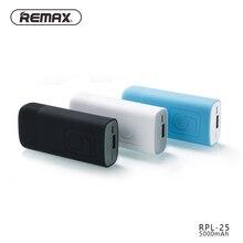 Remax RPL-25 5000 мАч для Xiaomi Мини Портативный Зарядное устройство Комплекты внешних аккумуляторов Запасные Аккумуляторы для телефонов быстрой зарядки для iPhone для Samsung