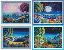 Joy Sunday Fantastic scenery cross stitch pattern kits handcraft make embroidery with chart