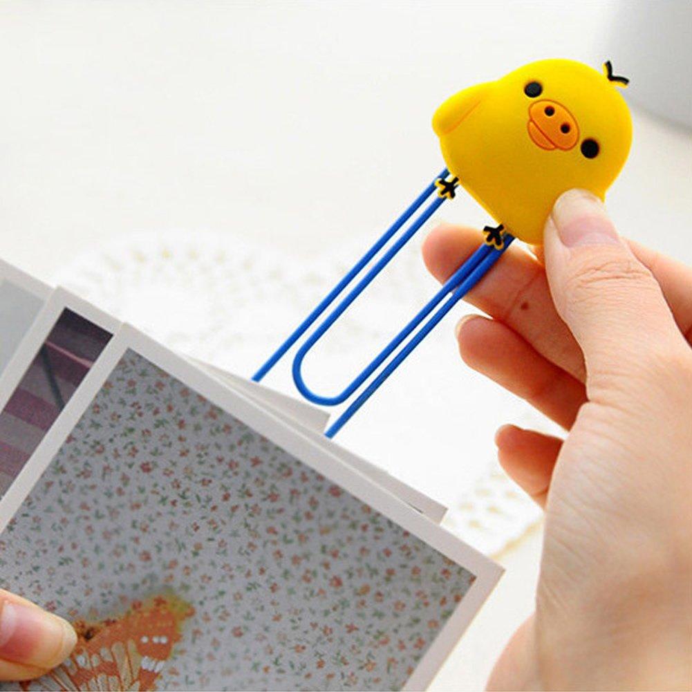 Mit Den Modernsten GeräTen Und Techniken huhn 5 Pcs Von Cartoon Tier Papier Hinweis Pin Clips Lesezeichen Book Paperclip Schule Versorgung