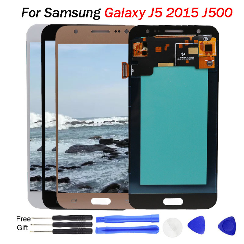 <font><b>AMOLED</b></font> For Samsung Galaxy J5 2015 LCD <font><b>J500</b></font> J500F J500G J500Y J500M J500H Display LCD Digitizer Touch Screen Replacement <font><b>J500</b></font> LCD image