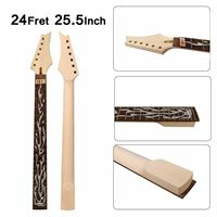 Ibanez Style Electric Guitar Neck 24Fret 25.5inch Maple+RoseWood Fretboard