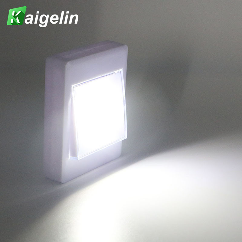 Ultra Bright Mini LED Night Light COB Wireless Wall Lamp With Switch Flashlight Home Portable Cabinet Light Emergency Lighting
