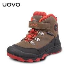 UOVO Enfants de Haute Qualité En Plein Air Non-slip Chaussures de Randonnée Imperméable Garçons Escalade Bottes Collision-Preuve Alpinisme Bottes enfants