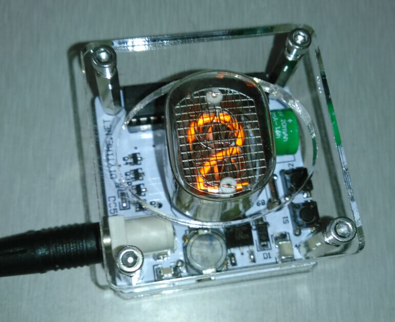 USB digit clock single nixie QS27 single word glow tube clock clock