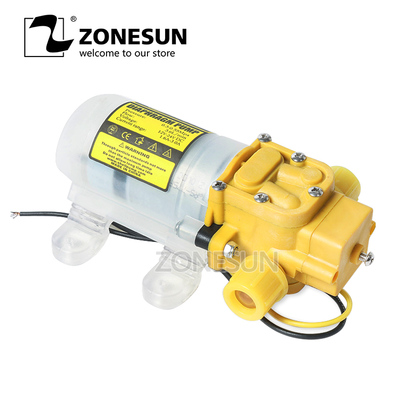 ZONESUN Diaphragm Water Pump For Filling Machine Small Safe High Pressure Self Priming Pump 3.6L/min